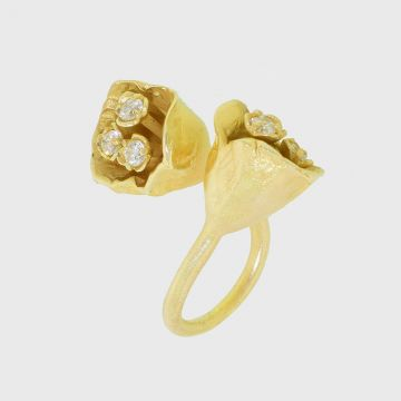 Ring silver 925 gold plated