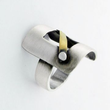 Ring Silver and Gold 18ct