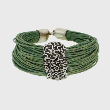 Silver bracelet 925 with oxidation