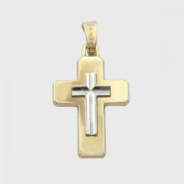 Cross  White Yellow Gold 14ct