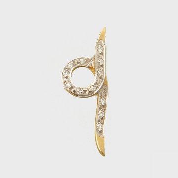 Pendant yellow gold 14 carats