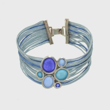 Silver bracelet 925 with enamel