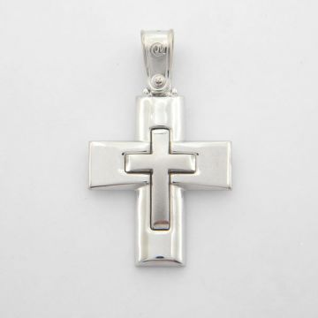 Cross White Gold 14ct