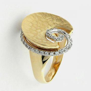 Ring White Yellow Gold 14ct