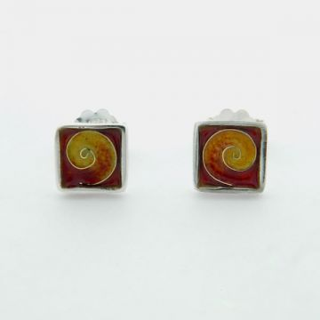 Silver Earrings with Gold 22ct
