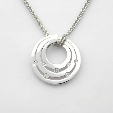 Pendant White Gold 14ct with Chain