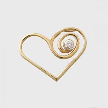 Yellow Gold pendant 14 carats
