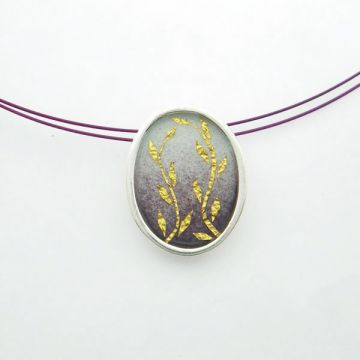 Silver Pendant with Gold 22ct
