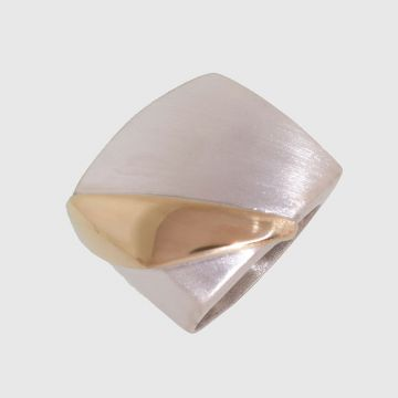 Silver Ring with Gold 18ct