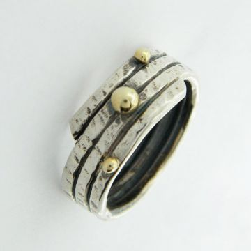 Ring Silver and Gold 14ct