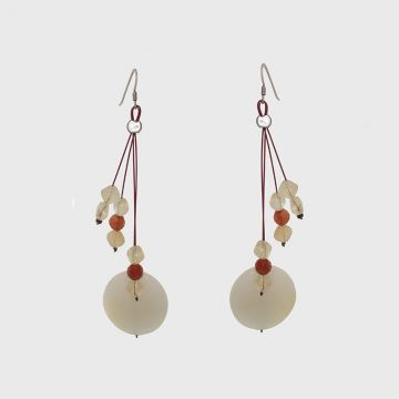 Silver Earrings with precious stones