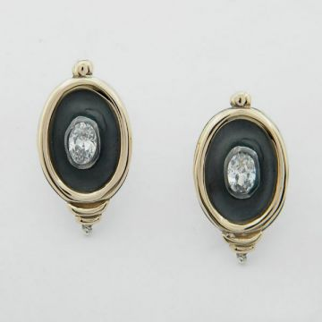 Earring Silver and Gold 14ct