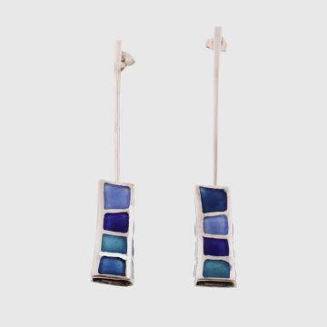 Earrings Silver with Enamel
