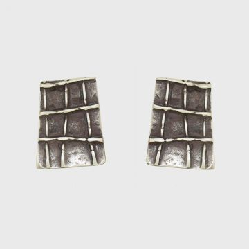 Silver earrings 925 with oxidation