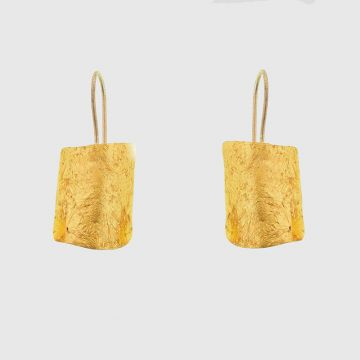 Earrings Silver with Gold 22 carat