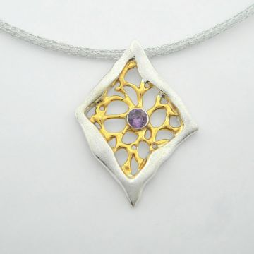 Silver Pendant Gold plated
