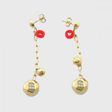Brass Earrings Goldplated