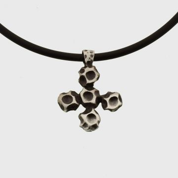 Silver cross with oxidation