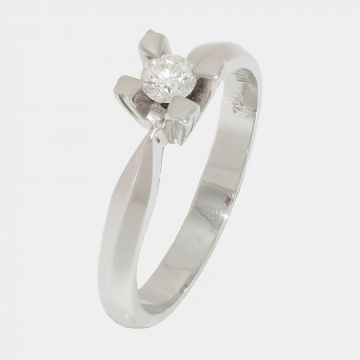 Ring White Gold  18ct with Diamond
