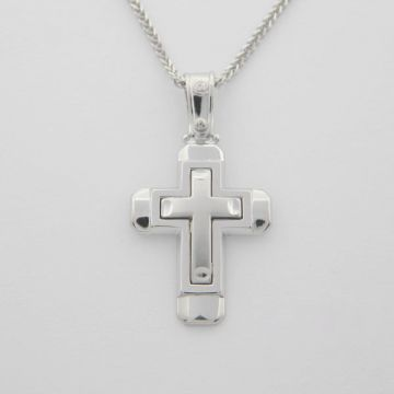 Cross White Gold 14ct