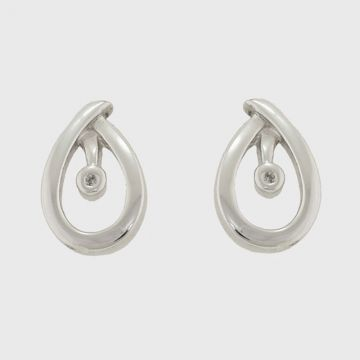 Earrings silver 925 with diamonds