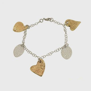 Silver bracelet 925 gold plated