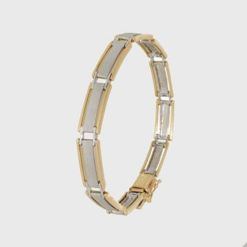 Bracelet White Yellow Gold 14ct