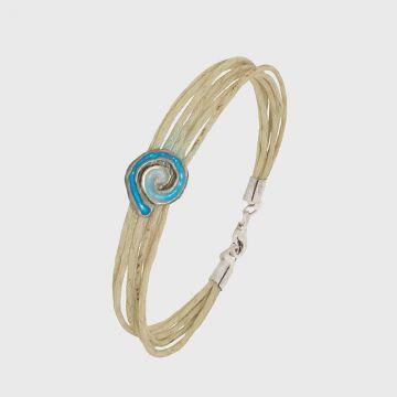Silver bracelet 925 with enamel