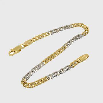 Bracelet White Yellow Gold 14ct