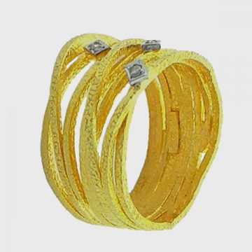 Ring Yellow Gold 18ct with Diamonds