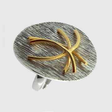 Silver Ring Gold plated