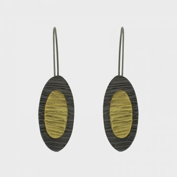 Silver Earrings 925 gold plated