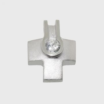Silver Cross 925 with zircon stone