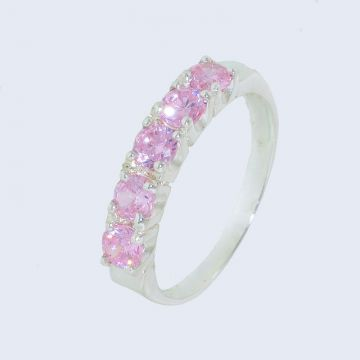 Silver ring 925 with pink zircon