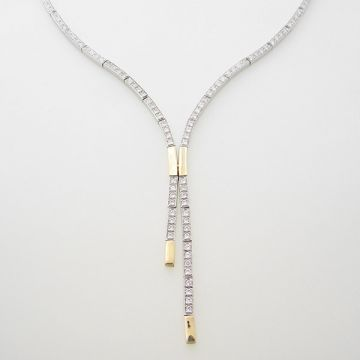 Necklase Set White Yellow Gold 14ct