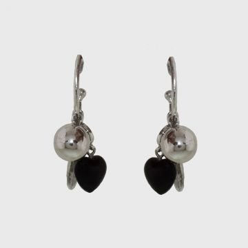 Silver earrings 925 with agate