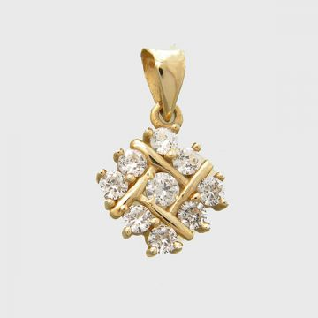 Pendant yellow gold 14 carats