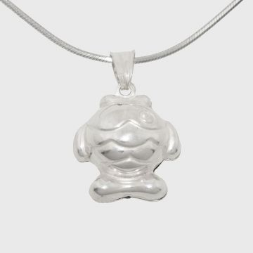 Silver pendant in the shape of a fish