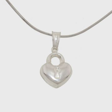 Silver pendant in the shape of a heart