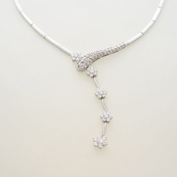 Necklace Set Whitegold 14k