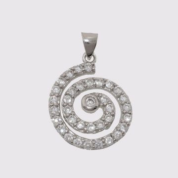 Silver pendant 925 with zircon
