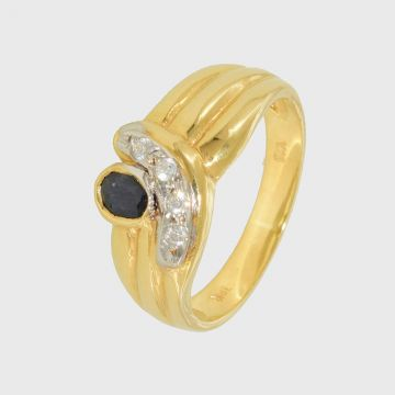 Ring Yellow Gold 18ct with Onyx