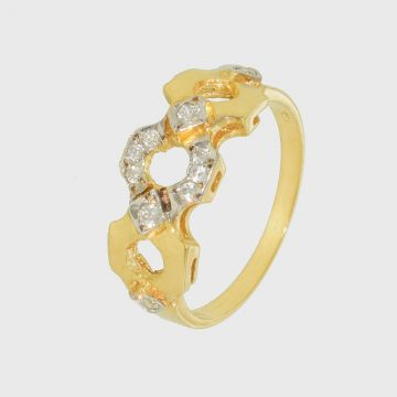 Ring Yellow Gold 18ct with Zircon