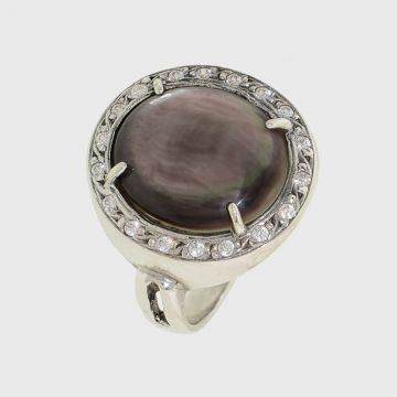 Ring silver 925 with precious stones