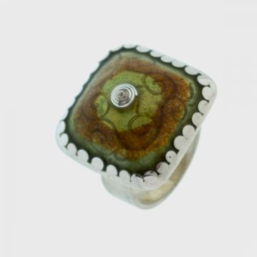 Ring Silver with Enamel