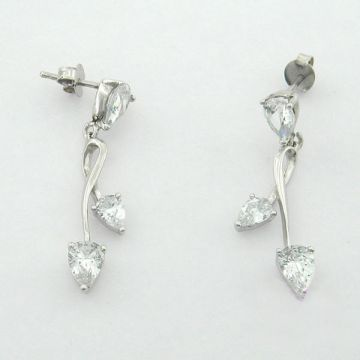 Earrings White Gold 14ct