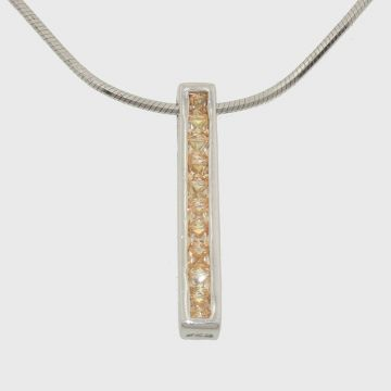 Silver pendant with zircon stones