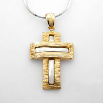 Silver Cross Gold plated