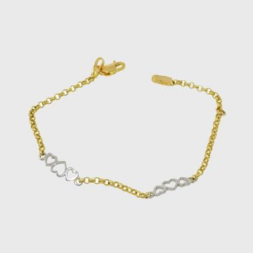 Children Bracelet White Yellow Gold 14ct