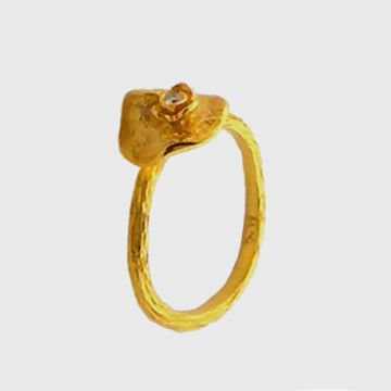 Ring Yellow Gold 18 ct with Diamond
